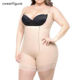 2aabcec38233b Plus Size Women s Hot Body Shaper Slimming Underwear Girdle Bodysuit Waist  Shaper Reductoras Shapewear for Women Control Pants