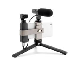 steadicam iphone Rebajas DJI OSMO Pocket Handheld Gimbal Holder Soporte de Extensión de Aluminio Soporte de Clip de Teléfono para DJI OSMO Pocket Camera para Micrófono