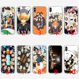 Étui iphone volleyball en Ligne-Housse de protection en silicone souple TPU en silicone Haikyuu pour iPhone 5 5S SE 6 6S 7 8 Plus X XR XS Max Cover