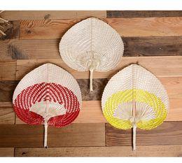 воздушные шары свечей Скидка Пальмовые Листья Вентиляторы Ручной Плетеные Многоцветный Palm Fan Традиционный Китайский Ремесло Украшение Дома