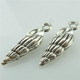 Ciondoli a conchiglia online-14708 20PCS Antique Silver Plated Lega Ocean Conch Charm