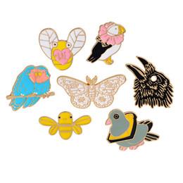 Animal De Dessin Animé Broche Pigeon Lapin Papillon Perroquet Abeille Insignes En Métal Émail Dur Pins Collection Bijoux Cadeau Sac Veste Manteau Accessoire ? partir de fabricateur