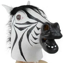 spielzeug pferd kopf Rabatt 1 stück Tier Kostüm Spielzeug Pferdekopf Maske Tier Kostüm Spielzeug Party Halloween Pferdekopf Neue Jahr