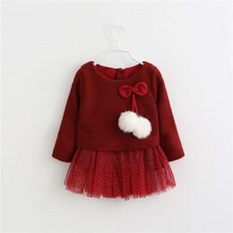 9a66dc877ec41 Bibicoal bébés filles habillent les enfants giel vêtements chauds nouvel  hiver mignon simple robe de princesse enfants vêtements bébé filles Parties  robe