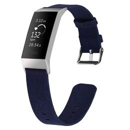 Cinturino per bracciale Fitbit Charge 3 Band traspirante di ricambio per Fitbit Charge 3 Correa Fitbit Watch 64003 cheap canvas band strap da cinghia per tela di canapa fornitori
