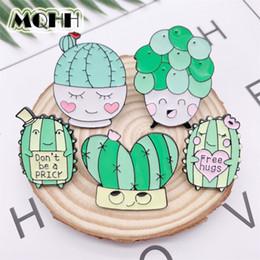 2019 jóias de badminton Desenhos animados Planta bonito Sorriso Cactus Amor esmalte broche Liga emblema Denim Roupa Saco Pin Mulher do presente do doce Jóias For Friends
