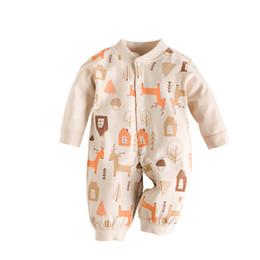 2dd0b29d15e39 2019 vêtements de bébé nouveau-né de bande dessinée coloré organique pur coton  barboteuse doux et chaud pour vêtements de sommeil de garçons vêtements de  ...
