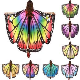 2019 blaue paillettengürtel Beste verkaufende HEISSE Frauen-Schmetterlings-Flügel Pashmina-Schal-Schal-Nymphen-Elf-Poncho-weicher Gewebe-Mantel-stilvoller modischer Kostüm-Zusatz 70925