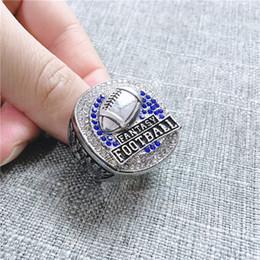 Campeonatos de fútbol online-Anillos de campeonato personalizados más nuevos 2019 fans de la fantasía del anillo de Campeón de Fútbol Memorial Sports anillo de regalo de EE.UU. Tamaño 9-13