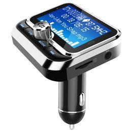 audio-promotionen Rabatt Auto Bluetooth FM-Transmitter MP3-1.8 Zoll-Schirm-Radio-Adapter Car Kit mit Dual USB Ladegerät Wireless-Funkadapter Dropship