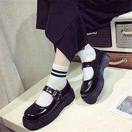 Poupée japonaise en Ligne-Chaussures femmes muffin style japonais à tête ronde Petit Soft-College Doll simples semelles Chaussures Femmes