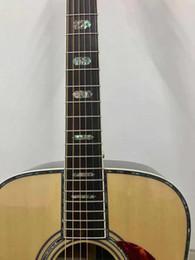 2019 cuerdas de guitarra hechas a mano Diafragma natural Spruce Top Four 5 Guitarra acústica eléctrica Diapasón de ébano, Fishman EQ, Incrustación de encuadernación de abulón, Tortuga marrón Pickguard