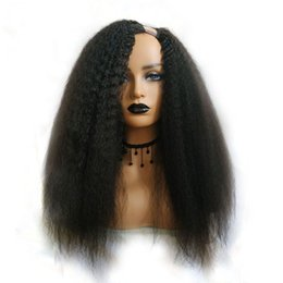 Parrucca per parrucche diritta e ondulata per donna nera Parrucche per capelli umani Brasiliana Capelli di Remy 150 Densità Italiano Yaki Medium da