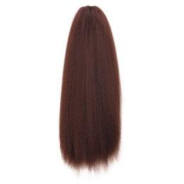 peluca de pelo rizado para cola de caballo Rebajas Micro-rizado elástico neto de maíz pelucas de la cola de caballo África micro-volumen caliente de maíz Cola de caballo pelucas de pelo trenza Bundle