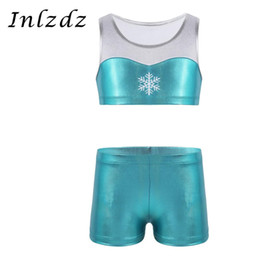 inlzdz Kids Girls Shiny Scales Printed Sports Active Shorts Ballet Dance Gymnastic Underwear Bottoms