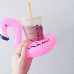 Canada Fournitures d'eau gonflables en PVC sous-verres Flamingo, licorne, noix de coco, citron ananas, melon d'eau Offre