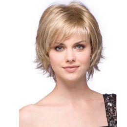 perucas sintéticas com tampa completa Desconto Quente! Novo Estilo 12