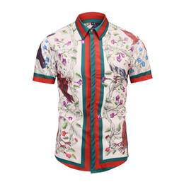 francês roupas homens Desconto Nova Moda Verão Mens Camisa Slim Fit Manga Curta Casual Camisa Mens Tendência Roupas Plus Size Mens Casual Camisa de Marca