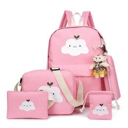 grandes bolsas de hombro para la escuela Rebajas Mochila para niños, estudiantes, hombres y mujeres, bandolera, nube, dibujos animados, grandes escolares, mochila escolar