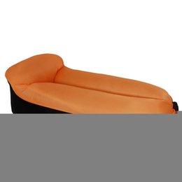 biancheria da letto arancione viola Sconti Letto gonfiabile portatile all'aperto porpora, rosa, arancio, verde, blu di 640g / 1,4lb del sofà gonfiabile portatile del sofà