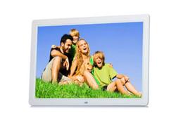 manuel de carte sd Promotion Nouveau 15,4 pouces ultra-mince HD TFT-LCD cadre photo numérique réveil MP3 MP4 Movie Player avec bureau à distance