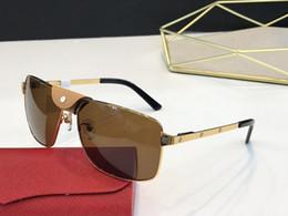 Diseños para marcos de cuadros online-NUEVO envío libre del diseño de la lente y la lente UV400 gafas de sol de lujo Marco de imagen y su pata metálica es material de envoltura