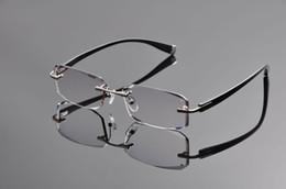 2019 titan rimless brille großhandel Großhandel 2019 neue elite marke reine titanium randlose brillen rahmen männer diamant schneiden myopie hyperopie optische gläser ev1264 rabatt titan rimless brille großhandel