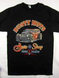 32ca7f4f0 vintage hot rod Promo Codes - Rusty Nuts Auto Shop Hot Rod vintage style  tee shirt