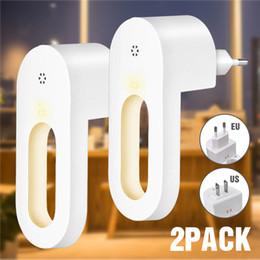 macchina fotografica notturna principale bianca Sconti 2 pz plug-in luce notturna bianco caldo LED luci notturne sensore da crepuscolo all'alba per camera da letto bagno cucina corridoio scale spina UE / USA