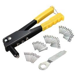 herramientas de remaches Rebajas Alta calidad Nuevos 60pcs / set herramienta de mano Pop remachadora kit del arma Remache Conjunto canal reparación de Venta Heavy Duty