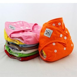diaper nappies Promo Codes - Cute Infant Reusable Cloth Nappy Washable Baby Cloth Diapers Adjustable Diaper Covers Training Pant Winter Summer
