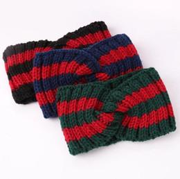 Argentina en gran stock Diseñador Cruz venda de la manera marca de lujo elástico rojo verde turbante Hairband para las mujeres Girl regalos retro headwraps BY0744 Suministro