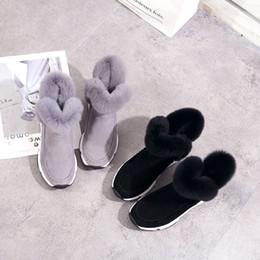 calçados planos do bootie Desconto Sapatos da moda mulher botas de inverno Sólida Quente Plana Botas de Neve Botas de Neve Redondo Curto Botas de Dedo Do Pé # 20181024