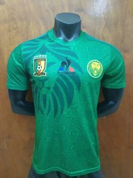 mannschaftsfußballabnutzung Rabatt Spielerversion 2019 Kamerun-Trikots Africa Cup Football Wear 19 20 Nationalmannschaft Vincent Aboubakar Benjamin Herren-Heimtrikot