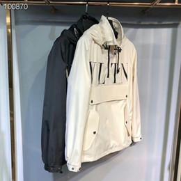 2019 giacca sportiva modello Uomo primavera autunno cappotto sottile giacca, uomini e donne giacca sportiva giacca a vento esplosione modelli neri paio giacca windrunner giacca sportiva modello economici