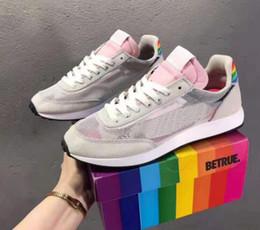 Zapatillas de malla de colores online-Be True TAILWIND 79 Zapatillas de running para hombre y mujer Rosa Rainbow Mesh Sports Zapatillas de deporte coloridas BETRUE Chaussures Sneakers