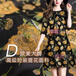 tecido para vestidos Desconto 152 cm tecido jacquard terno cheongsam vestido de material de tecido jacquard vestido de pano atacado