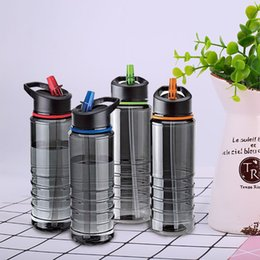 gaiola de garrafa de carbono carbono verde Desconto Garrafa De Água De Palha Bebe Esporte Ginásio Flip Nova Caminhada