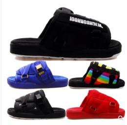 Nova Marca Visvim Chinelos Moda Sapatos Homem E As Mulheres Amantes Sapatos Casuais Chinelos Sandálias de Praia Ao Ar Livre Chinelos Hip-hop Sandálias De Rua de Fornecedores de bomba de porco