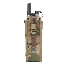 Radio de camouflage en Ligne-Pochette Radio tactique PRC 148/152 Chasse Paintball Airsoft Combat Gear Porte Molle Radio Multicam Noir