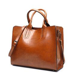 Кожаные сумочки из кожи онлайн-Trend Leather Handbags Big Women Bag High Quality Casual Female Bags Trunk Tote Spanish  Shoulder Bag Ladies Large