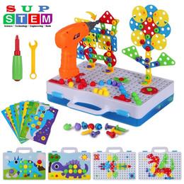 Elettrico Trapano Puzzle Le Viti blocchi giocattolo Creative Design Giocattoli educativi assemblati Blocchi Set del ragazzo dei capretti regalo 224PCS Accessori Y200111 da