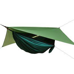 camas baixas baratas Desconto Atacado Barato Ao Ar Livre À Prova D 'Água Nylon Camping Hanging Tent Swing Bed Hammock Com Mosquiteiro e Chuva Cobertura Da Mosca