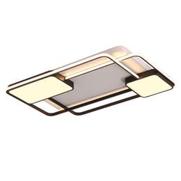 Джесс Спальня Гостиная потолочные светильники лампы современный блеск де плафон moderne затемнения акриловые современный светодиодный потолочный светильник для bedroom110V'260V от