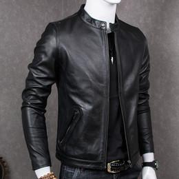 2020 kuh lederjacken Fashion-Genuine Leather Jacket Herren Schaffellmantel für Herren Plus Size Echtes Rindsleder Jacken Chaqueta Cuero Hombre MT681 KJ2283 günstig kuh lederjacken