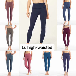 CK1038 2019 Wunder Under Hi-Rise Tighy Full-on Lulu GYM Sexy Tummy Control Running Leggings Sin ver a través de la tela colorida desde fabricantes