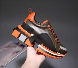 Wholesale Роскошная мода Сорренто Sneaker мужские дизайнерские туфли Ткань Стрейч Джерси Слипоны Леди Двухцветная резиновая микро подошва повседневная обувь