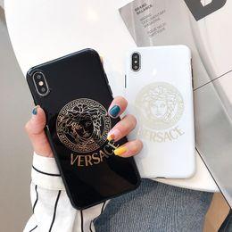 plaque de recouvrement or Promotion cas de téléphone de concepteur de luxe pour iphone 6/7/8 plus xs max / XR placage or de haute qualité couverture de téléphone portable stunk livraison gratuite