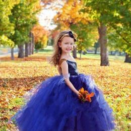 Robe de reconstitution historique en Ligne-2020 robes de demoiselle pour tout-petits une épaule en tulle une ligne cupcake pageant robes robe en dentelle première robe de communion