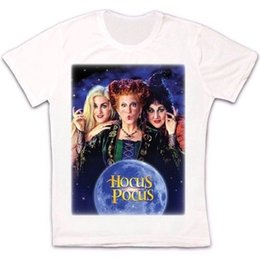 clothing new witch Promo Codes - Hocus Pocus Witch Halloween 90s Movie Poster Retro Vintage Unisex T Shirt Size Discout Hot New Tshirt Denim Clothes Camiseta T Shirt